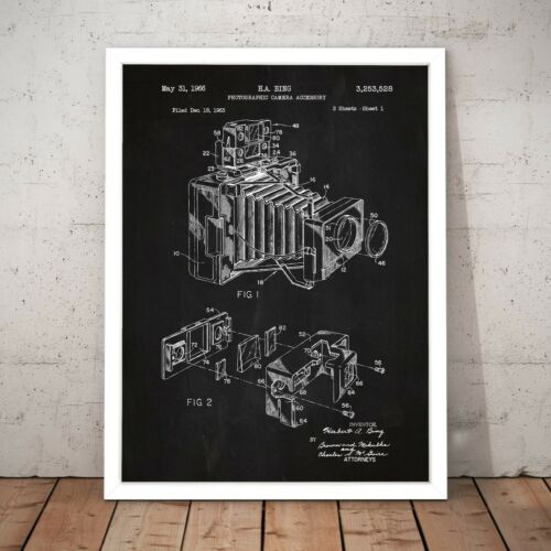 Patent for Camera Perfect Gift Photographer Home Decor Art Poster Print A4 to A0