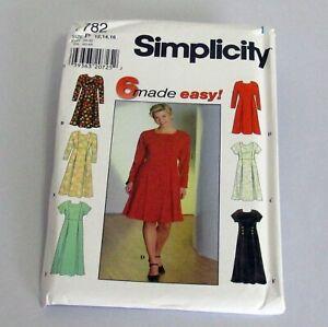 Simplicity-Pattern-7782-Misses-Miss-Petite-Dress-Size-P-12-14-16