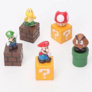 5pcs-Super-Mario-Bros-mario-figure-Luigi-mushroom-Goomba-Toad-Yoshi-PVC-Action