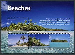 Tuvalu-2018-MNH-Beaches-4v-M-S-II-Tourism-Landscapes-Trees-Nature-Marine-Stamps