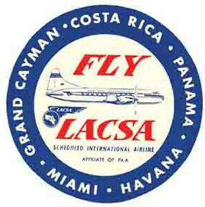 LACSA-Airlines-COSTA-RICA-CUBA-Vintage-Looking-Sticker-Decal-Luggage-Label