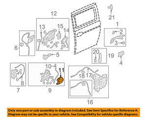 Image Is Loading Honda Oem 05 10 Odyssey Sliding Door Actuator