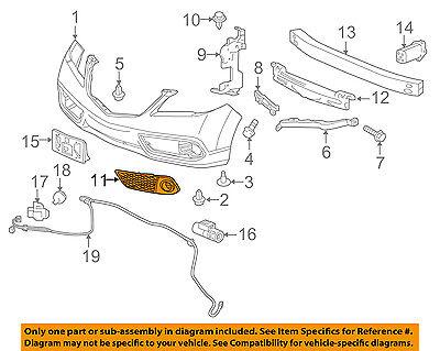 FR 71102-TZ5-A00 ACURA HONDA OEM GARNISH R