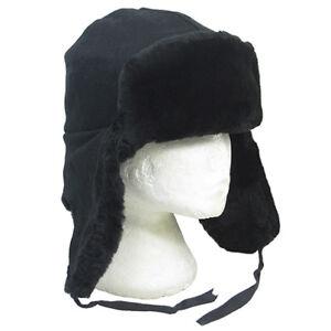 ba69e49783e Image is loading Original-Soviet-Black-Fur-Ushanka-Hat-Winter-Russian-