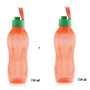 750 ml 2 x Flasche Tupperware /_ EcoEasy /_ Trinkflasche Sport  Fitness