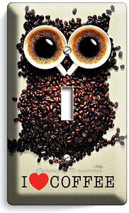Owl Single Light Switch Plate