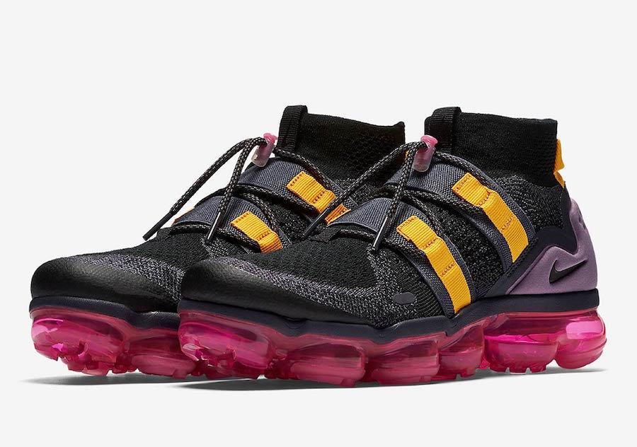 Nike MEN'S Air Vapormax FK Utility Black Gridiron Pink Blast SIZE 11.5 BRAND NEW