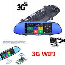 3G Wifi Dual Lens Car DVR Camera 1080p Video Recorder Rearview Mirror Dash Cam