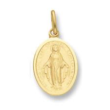 Yellow Gold Madonna Pendant 13 x 16mm - British Made - Hallmarked