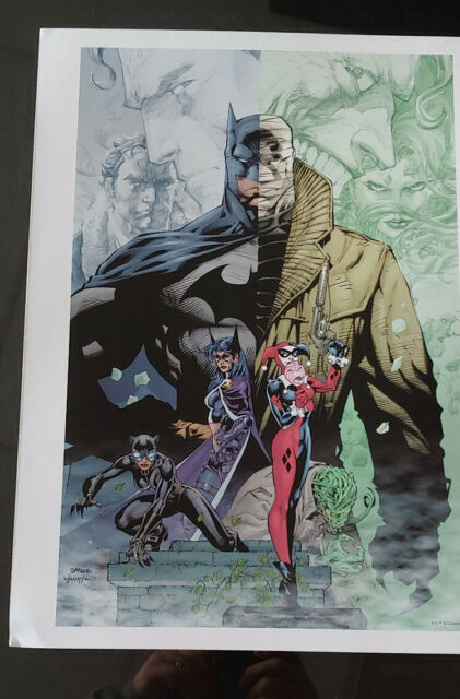 Jim Lee Print Batman Hush Huntress Catwoman Harley Quinn 12x16 Inches Ebay