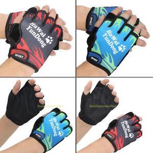 Outdoor-Sport-Radfahren-Bike-Fahrrad-Motorrad-GEL-halbe-Finger-Handschuhe-Faeustlinge