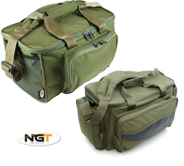 2 X Ngt Pesca Carpa Verde Imbottito Carryall Zainetto Tackle Sacchi 1 X 909 1 X 537