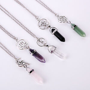 1PC-Gemstone-Natural-Crystal-Quartz-Healing-Point-Chakra-Stone-Pendant-Necklace