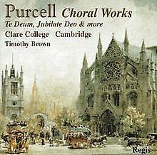 Purcell Choral Works von Brown,Timothy, Choir of Clar... | CD | Zustand sehr gut