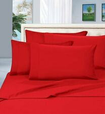ULTRA SOFT 1000TC EGYPTIAN COTTON SHEET//DUVET///'FITTED//FLAT US-ALL SIZE RED SOLID