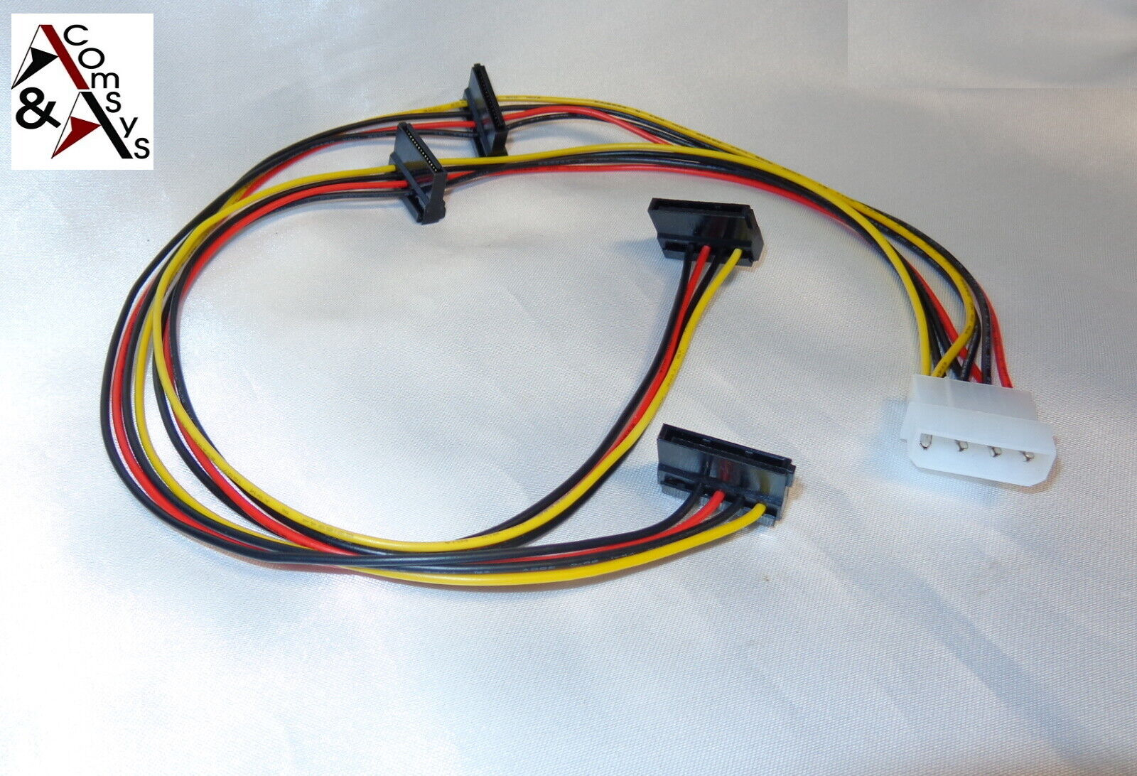 5 Stücke 4 Pin Ide Molex Zu 2 Serielle Ata Sata Festplatte Netzteil Kabel Dra kv