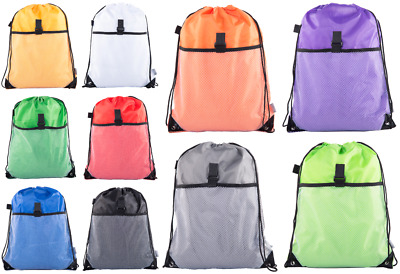 Mato /& Hash Basic Cinch Sack Drawstring Pack Tote Promotion Back Pack Party Bag