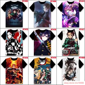 Kimetsu no Yaiba Anime Manga Cosplay T-Shirt shirt 100/% Cotton Demon Slayer