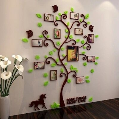 3d Photo Frame Family Tree Diy Wall Decal Stickers Living
