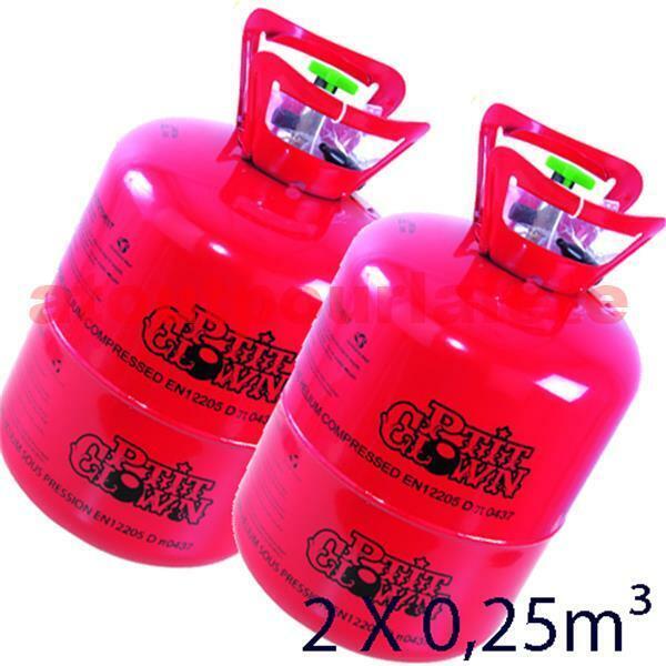 Lot de 2 Bouteille Hélium jetable 2 x 0,25m3 (60 ballons)