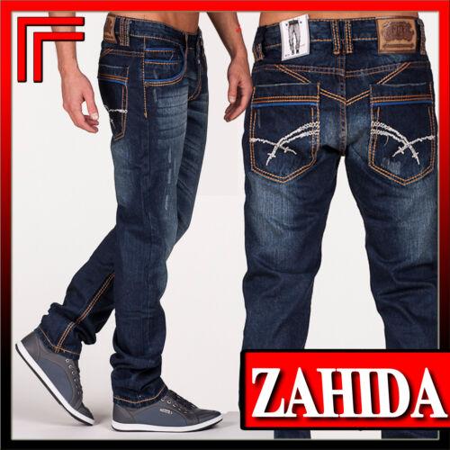 JEANS Uomo Pantaloni Jeans Jeans Style Blu Denim-Style Clubwear Jeansnet Men NUOVO