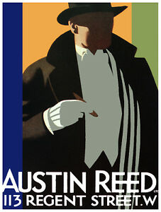 Poster Stylish Graphic Austin Reed 113 Regent St Interior Design Home Decor 06 Ebay