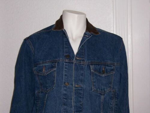MENS MARLBORO COUNTRY STORE DENIM JEAN JACKET LEAT