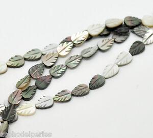 2 Perles En Coquillage Nacrées En Forme De Feuille 9 X 6 Mm Avec Des MéThodes Traditionnelles