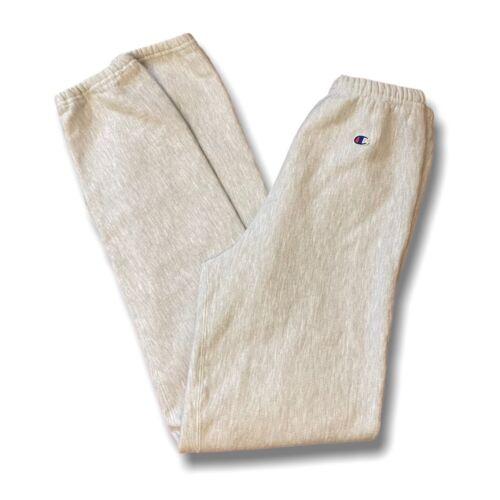 Vintage Champion Mens Reverse Weave Gray White Swe