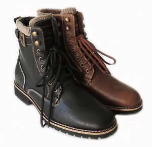 NEW PREMIUM MENS HIGH ANKLE BOOTS MILITARY COMBAT STYLE LACE UP ...