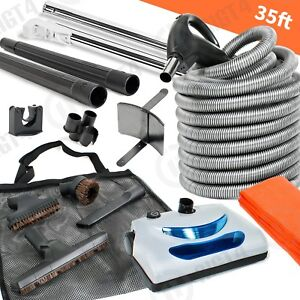 ElectrIc-Central-Vacuum-kit-Powerhead-35-039-Electric-HOSE-amp-Tools-for-Vacuflo-KIT