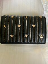 6a9610c3f3d item 1 NWT Tory Burch FLEMING STAR-STUD SLIM MEDIUM Wallet Black Gold Star  52202  248 -NWT Tory Burch FLEMING STAR-STUD SLIM MEDIUM Wallet Black Gold  Star ...