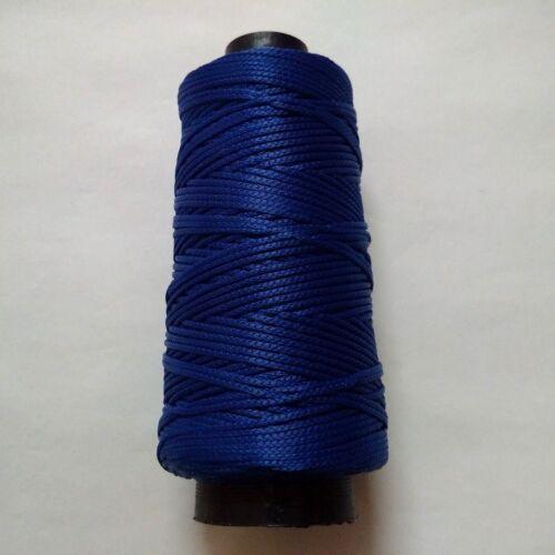 BLUE THREAD YARN CROCHET EMBROIDERY KNITTING LACE TRIM VISCOSE COTTON RAYON