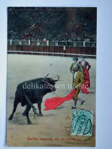 MALAGA-corrida-de-toros-bullfight-gallito-SPAIN-ESPANA-old-postcard