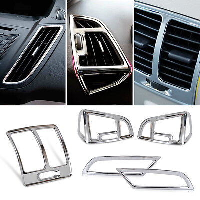Chrome Armrest AC Air Vent Outlet Cover Trim for Ford KUGA ESCAPE 2013 2014 2015
