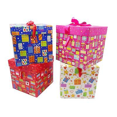50x Present Tüten Geschenktüten Geschenk Geburtstag Herz Rose Rot 26x10x32 cm