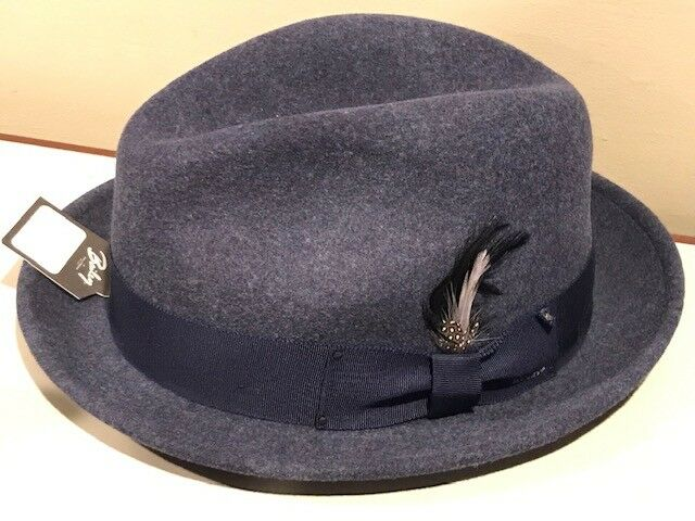 Bailey of Hollywood Tino Litefelt Fedora Denim Mix XXL  9b65ee762bd
