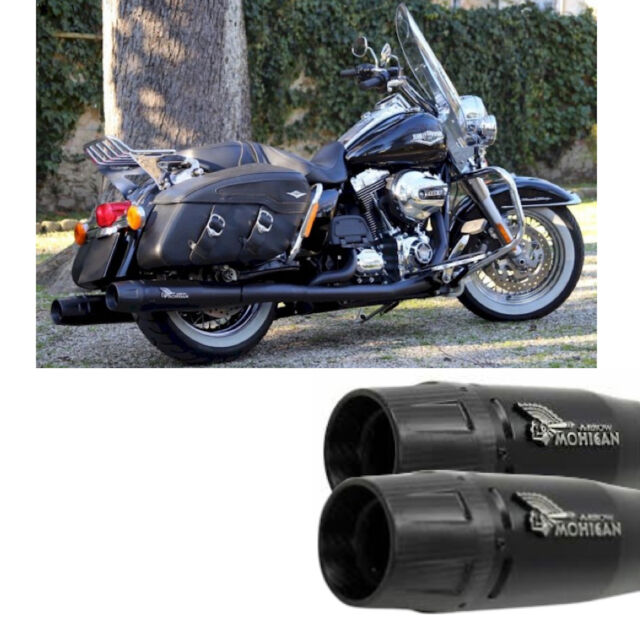 MOHICAN ARROW EXHAUST BLACK HARLEY DAVIDSON TOURING 2012 12