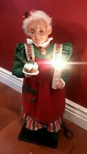 "Holiday Living Animated Mrs. Claus 25"" Tall - Christmas Decor Illuminated Candle"