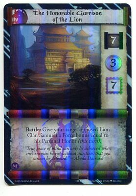 The Honorable Garrison of the Lion set (2 cards) FOIL NM/M L5R Ivory IvE Promo