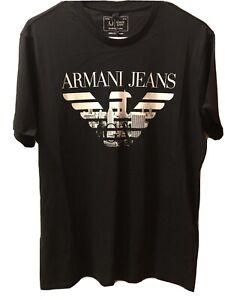 Giorgio Armani Jeans Hombre Camiseta Ebay