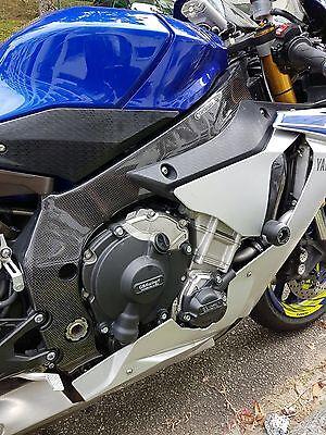 2015-2020 Yamaha R1 R1M Mirror Turn Signals Fairing Covers Twill Carbon Fiber