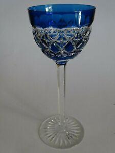 1 Ancien Verre A Vin Roemer Cristal Val St Lambert Modele Carlton Bleu Ht 19 Cm MatéRiaux De Haute Qualité