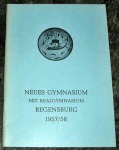 Regensburg-1957-58-Jahresbericht-Albrecht-Altdorfer-Neues-Gymnasium-Geschenk-Abi