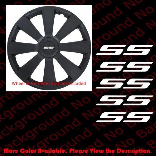 5 pc x Chevrolet//CHEVY Bowtie Die Cut Vinyl Decal Car//Wheel Cap CAMARO SS RC113