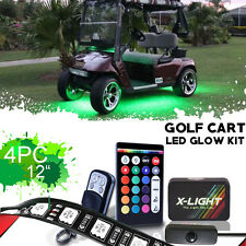ClubCar Villager LSV Golf Cart LED Neon Glow Lights Pod Kit w Keychain & Switch