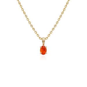 Gemondo-9ct-Yellow-Gold-Fire-Opal-Single-Stone-45cm-Necklace