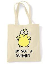 I'M NOT A NUGGET TOTE  SHOULDER BAG - Vegetarian Vegan Veggie Animal Rights