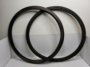 Rare-Vintage-Schwinn-Breeze-Sports-Touring-Tire-Pair-26-034-1-1-4-034-Black-USA