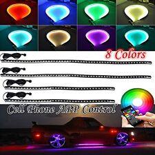 Tubo de coche bajo control de la aplicación de teléfono underglow Underbody Kit De Luz Neon Glow Sistema